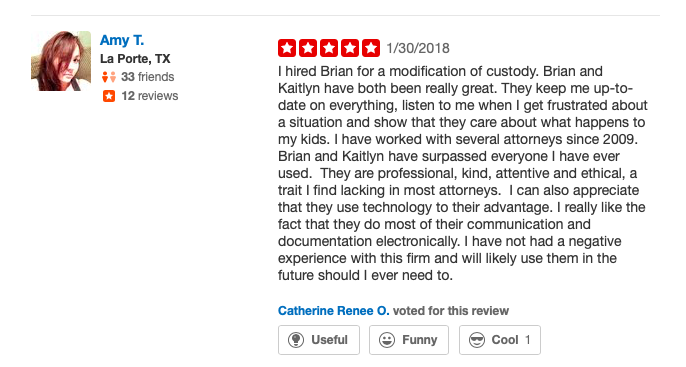 Yelp Review - Brian Walters