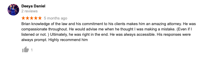 Google Review - Brian Walters