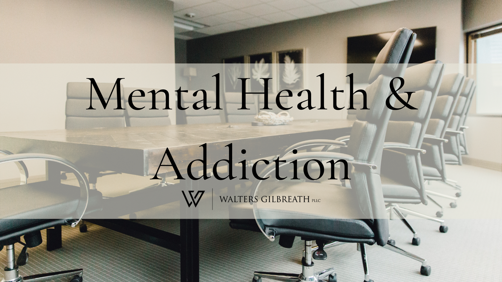 Mental Health & Addiction